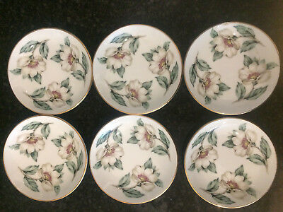 Crown Staffordshire Christmas Roses Butter Pat Dishes Saucers RARE several avail