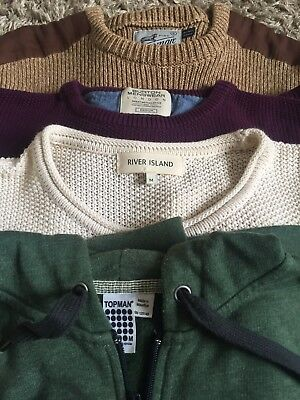 Bundle of Mens Jumpers and Hoodie from River Island, Topman and Burton.