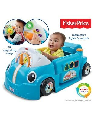 Fisher Price  Baby Laugh & Learn Crawl Around Car Shape Sorter Interactive Gift