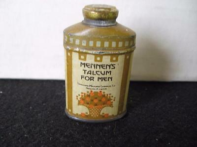 Vintage Sample Sized Mennen Talcum for Men Powder Tin
