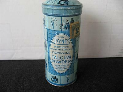 Vintage Early Jaynes Talcum Powder Tin