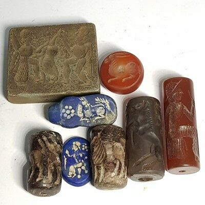 Antique Wonderful 8 pcs of different Medieval Stones Beads # G