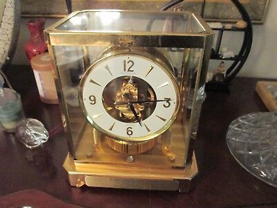 Jaeger LeCoultre Brass & Glass Case ATMOS Clock Serial # 373870 NOT WORKING