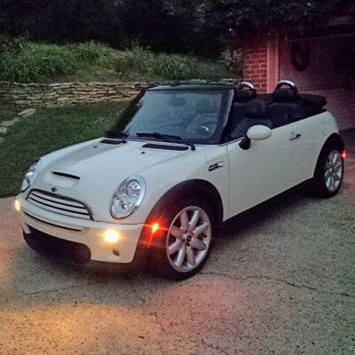 2006 Mini Cooper S RARE GREEN TOP & GREEN LEATHER INTERIOR MINI Cooper S Convertible Supercharged R52 ~RARE~ white/green 6 speed manual