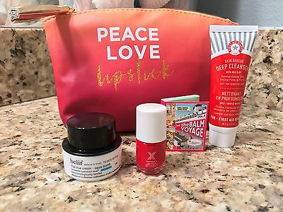 IPSY Glam Bag filled with 4 goodies~Belief, the Balm, FAB, Sephora