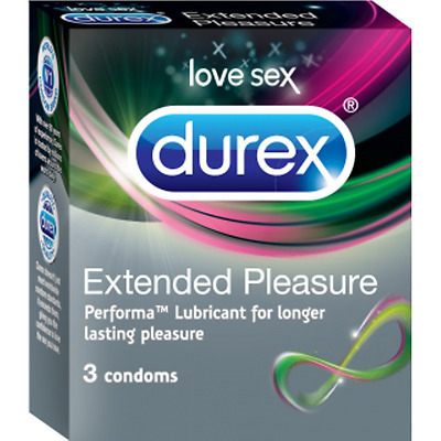 Durex Extended Pleasure x 24 Condoms Longer lasting pleasure PERFORMA New Sealed