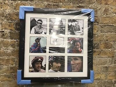 Horse Racing Legends framed photographs, signed by Bob Champion COA