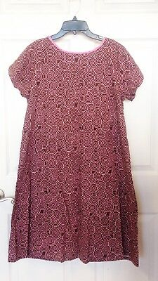 Dear Johnnies Hospital Gown Size Small Medium Brown Pink Retail $73 Maternity