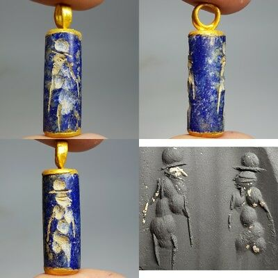 Lapis Old Beautiful intaglio Emperor Stone Lovely PEndant # G