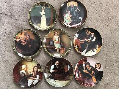 Set of 8 Knowles Norman Rockwell 8-1/2 inch Plates 1986-1989