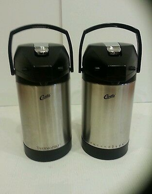 Lot (2) CURTIS 2.5L Stainless steel Airpots