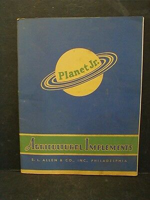 Original 1944 Planet Jr. Agricultural Implements Catalog - S.l. Allen & Co.