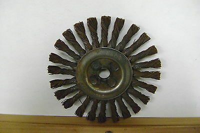 SELLING TWO 6 in. Wire Wheel Knotted Brush, 5/8in.Arbor Hole 9000rpm by OSBORN
