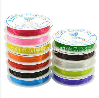 0.6mm 0.8mm 1.0mm New Transparent Elastic Fishing Line Beading Wire Cord Thread
