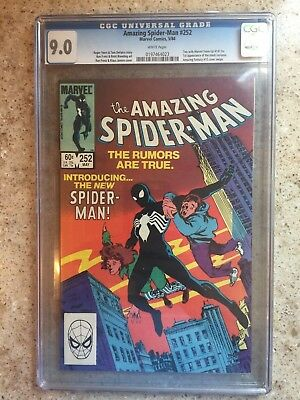 Amazing Spiderman #252 Cgc 9.0 Vf/nm 1St App Of Black Costume