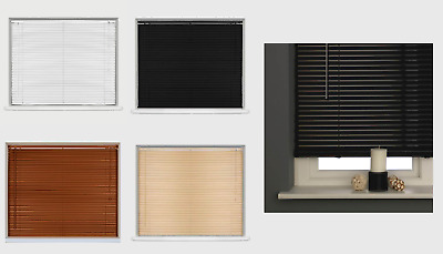 Window Blinds PVC Venetian Blinds Home Office Wooden Blinds From 60cm to 150cm