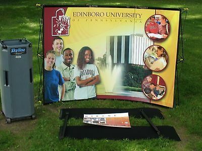 Skyline Mirage  Portable Curved Trade Show  Display Exhibit Booth Panel & Case