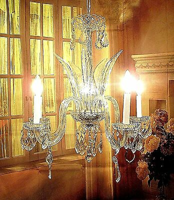Antique  Vintage Chandelier Restored  Crystals Fixture Pendant FREE SHIPPING