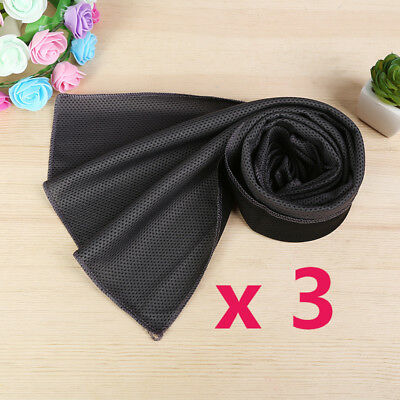 3x Instant Cooling Towel Sports Gym Towel Drying Sweat Fitness Running Cycling