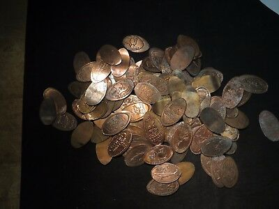 (100) Elongated Cents 1¢- Good Variety- Lot of 100