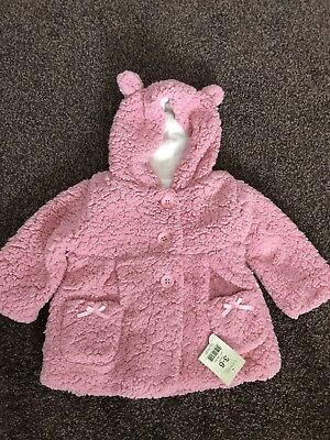 Baby Girls Pink Coat From George Size 3-6 months BNWT