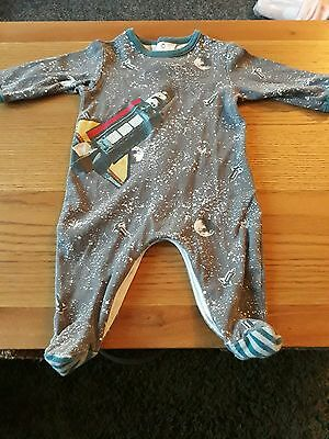 mamas and papas sleepsuit 3-6 months rocket space
