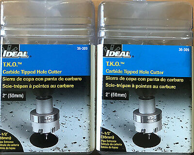IDEAL - 36-309 - T.K.O. Carbide Tipped Hole Cutter 2in 50mm NEW Free Shipping