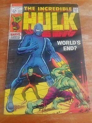 Hulk #117  - World's End? -- Incredible  -- -- VG/FN cond. 5.0 FREE SHIPPING