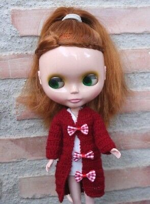 NEO BLYTHE Red Long SPENCER (CHAQUETA), HANDMADE & TAILORED by TONA & TINA!