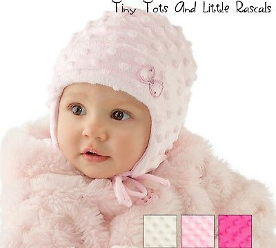 Baby Girls Infant Toddler Winter Hat Christening Occasion Baptism Bow newborn