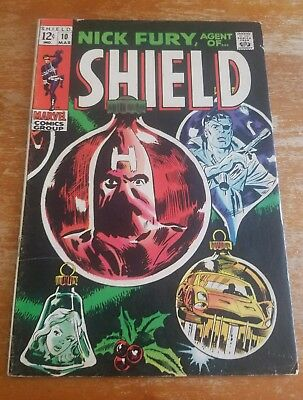 DESCENT GRADE Nick Fury Agent of SHIELD #10 VG/F 5.0 FREE SHIPPING!