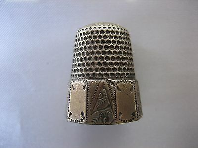 Antique Sterling Silver Star with Bell Hallmark Thimble #10 5.9 Grams