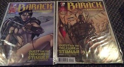 Barack The Barbarian - Lot of 2 Comics - Issue #1 and Issue #2