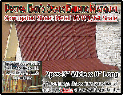 CORRUGATED ROOFING/SIDING Metal Doctor Ben's Scale Consortium Sn3/1;64