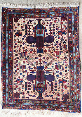 Tapis ancien rug oriental orient tribal ethnique Persan Perse Afshar 1900