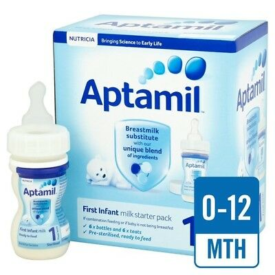 Aptamil 1 First Milk Ready to Feed Starter Pack 0-12 MONTHS 6 x 70ml
