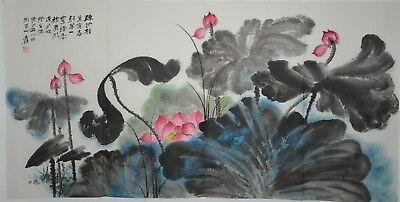 Stunning Large Chinese Painting Signed Master Zhang Daqian No Reserve S6149