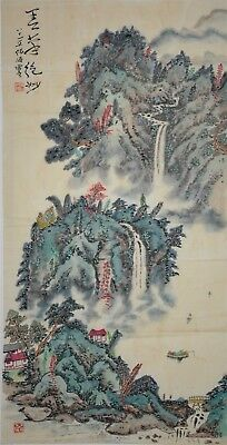 Rare Large Chinese Painting Signed Master He Haixia No Reserve Unframed E0571