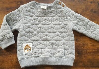 Zara baby boys gray pullover Star sweater 12/18 months