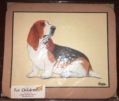 New in package basset hound mouse pad Zeppa Studios dog breed pet puppy