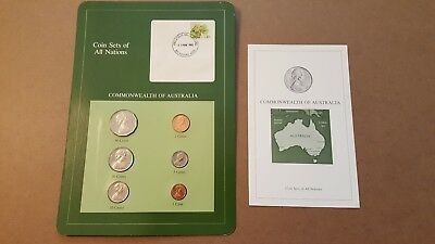 Coin Sets of All Nations Australia 50, 20, 10, 5, 2,1 cent 1982-1984 UNC