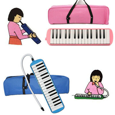 Student Instructor 32 Key Melodica Piano Style Harmonica w/ Bag Kids Gift Pink