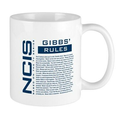 11oz mug NCIS Gibbs' Rule 23 - Printed Ceramic Coffee Tea Cup Gift