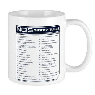 11oz mug NCIS GIBBS' RULES - Printed Ceramic Coffee Tea Cup Gift