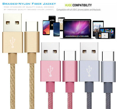 Strong Braided Nylon Fast USB C 3.1 Type C Charger Data Sync Charging Cable Cord