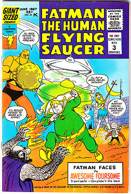 FATMAN #2 VF+ Captain Marvel's Otto Binder & C.C. Beck 68-Page Giant