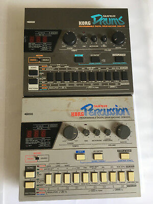 Korg Drum Machine Machines DDM-110 and DDM-220 Previously owned by New Order