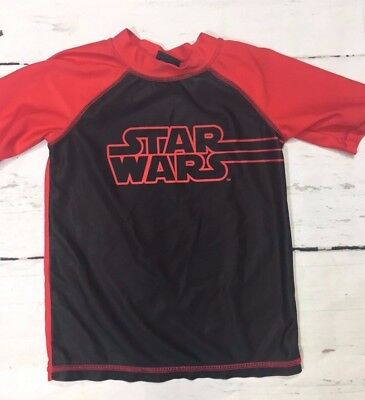 Disney Star Wars Rash Guard Swim Shirt Size 5