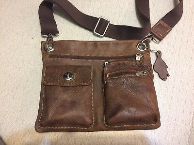 Roots Canada Leather Crossbody Village Purse Bag