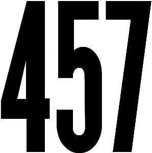 Duro Decal Permanent Adhesive Vinyl Numbers: 6` Gothic Black 401311